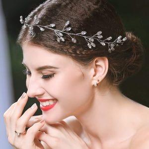Silver Leaf Headband/Headpiece for Women and Girls